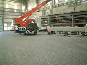 Blacksmith shop anti-slipping floor